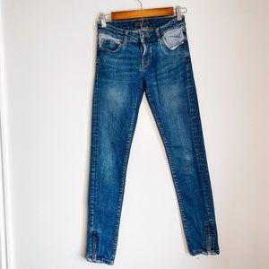 Zara Z1975 Skinny Zip Ankle Basic Denim